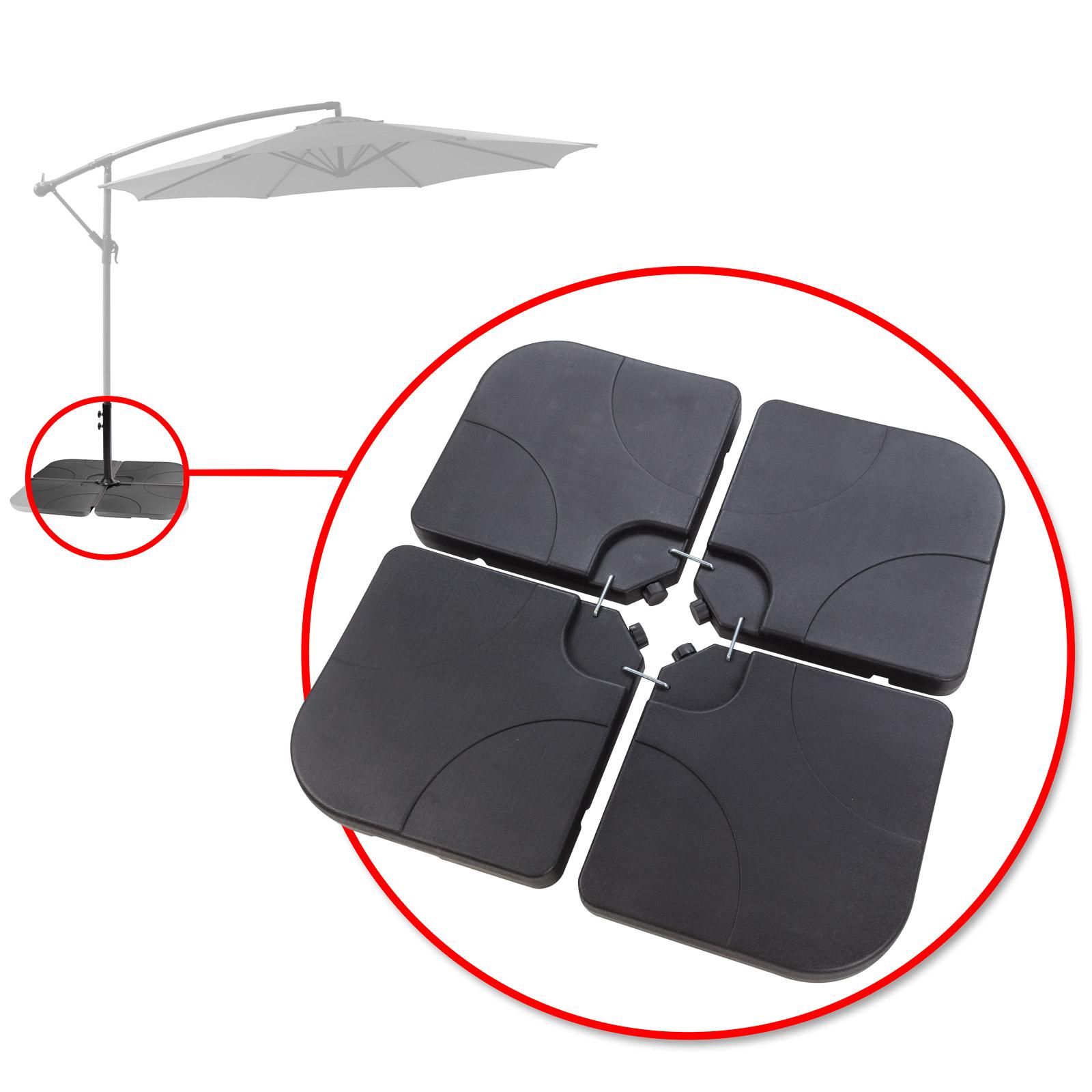 Dema Gewichte / Beschwerungsplatten für Sonnenschirmständer / Ampelschirm Verona 41286