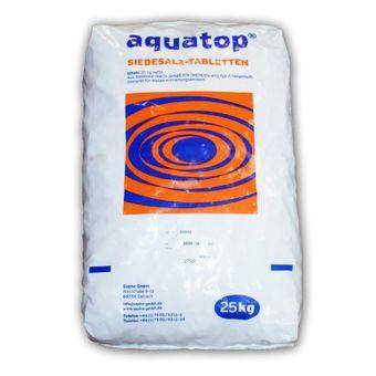 Aquatop Salztabletten Regeneriersalz 25kg Siedesalz Tabletten Wasserenthärter zur Wasserenthärtung Typ A für Entkalkungsanlage
