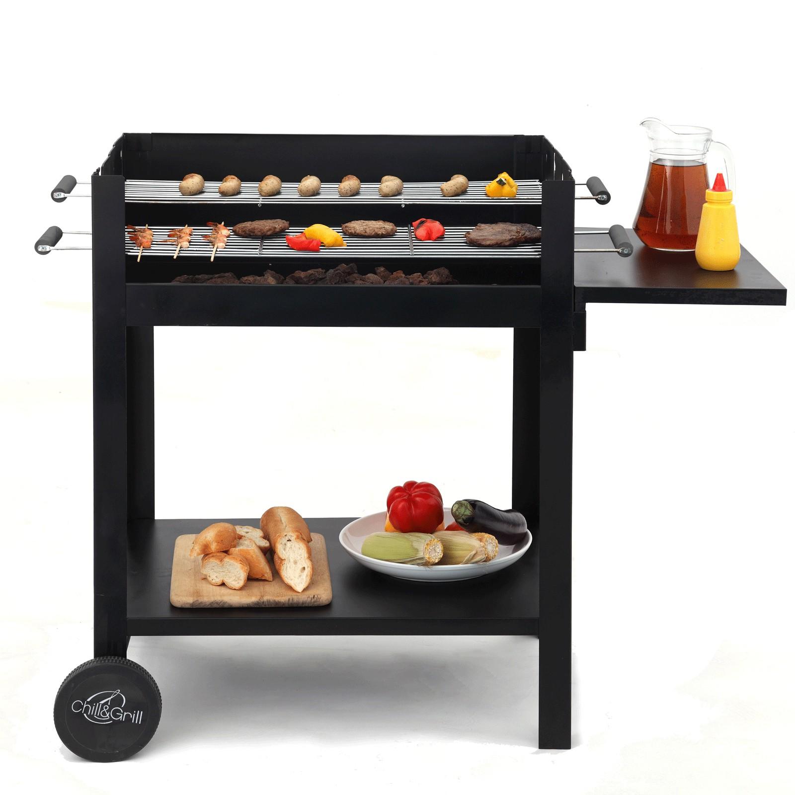 tepro holzkohlengrill chill grill kohlegrill grillwagen. Black Bedroom Furniture Sets. Home Design Ideas