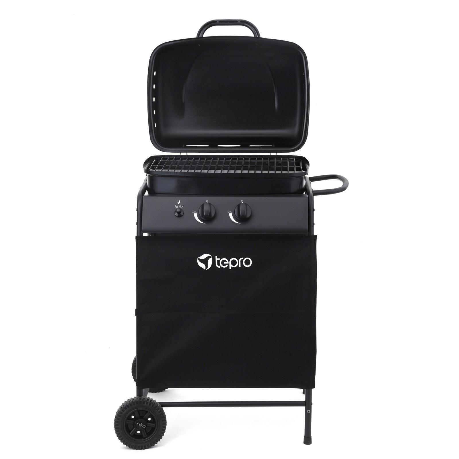 tepro gasgrill 2 brenner delton grillwagen garten outdoor. Black Bedroom Furniture Sets. Home Design Ideas