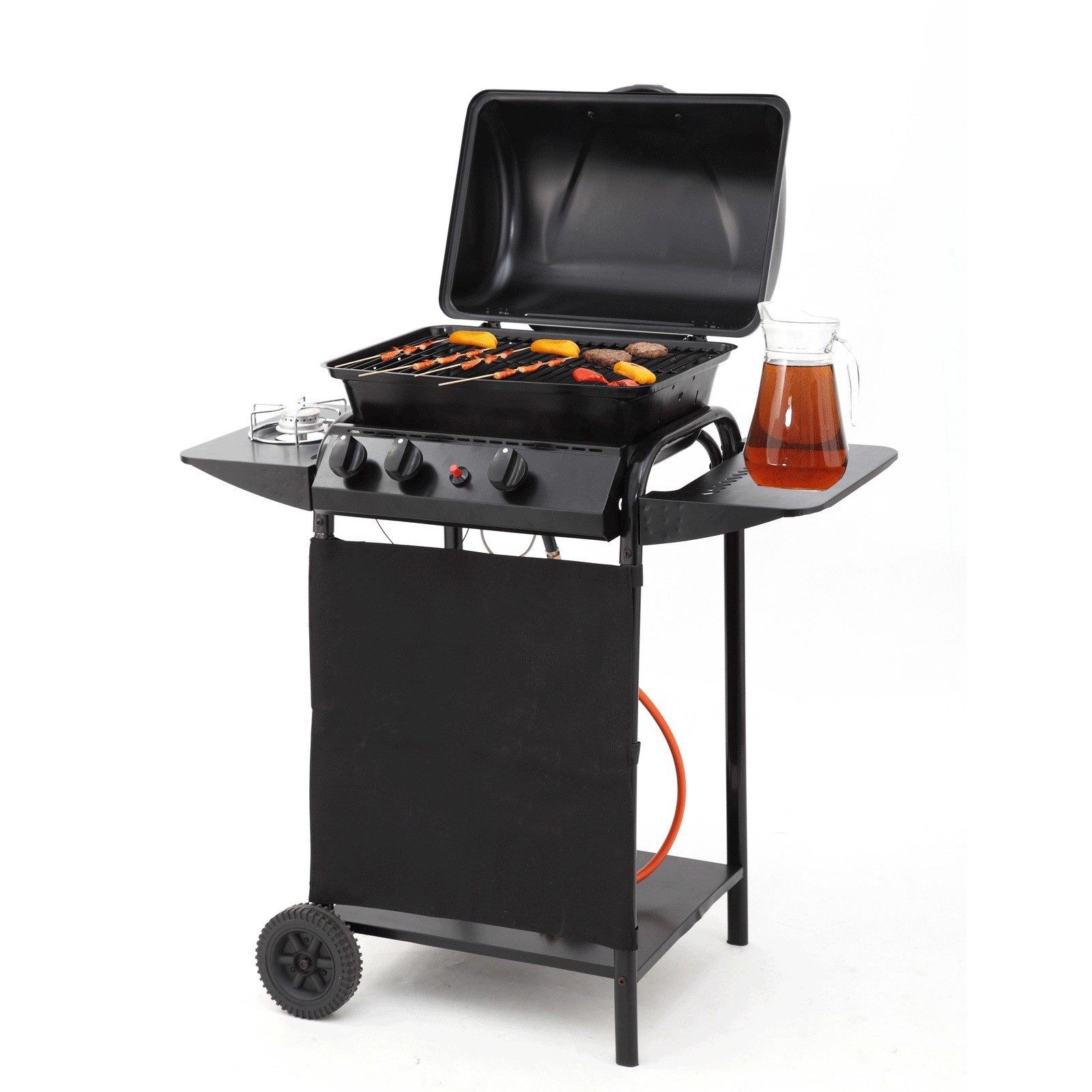 tepro gasgrill norton grillwagen doppelbrenner outdoor cooking gas grill schwarz ebay. Black Bedroom Furniture Sets. Home Design Ideas