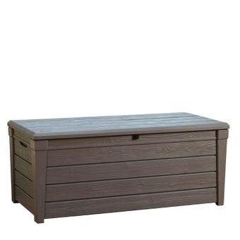 Garten Box keter garten box universalbox holzoptik brightwood 455 liter