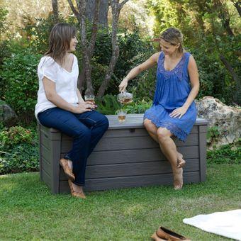 Keter Garten-Box / Universalbox Holzoptik Brightwood 455 Liter – Bild $_i