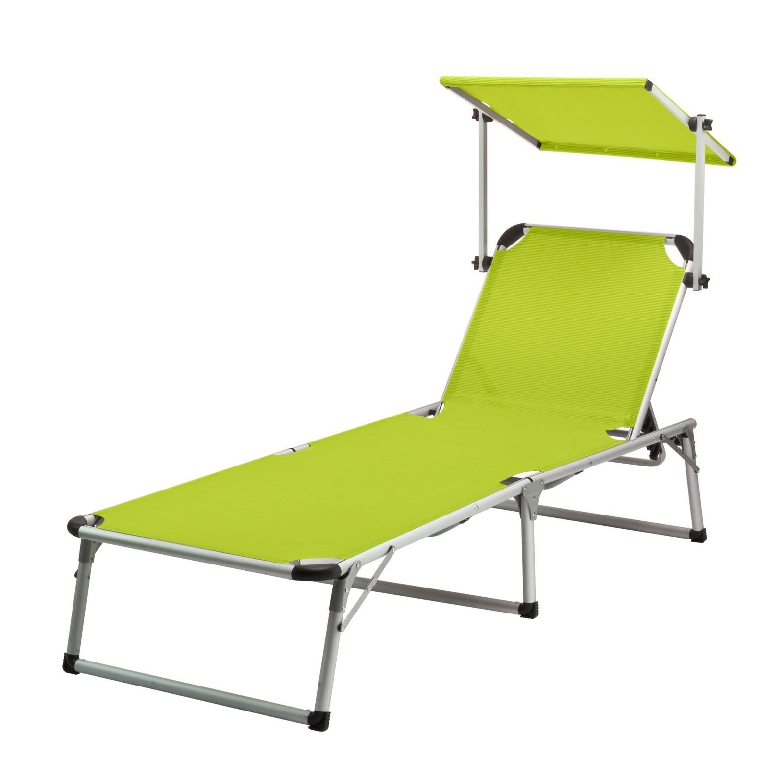 gartenliege sonnenliege colorado springs mit sonnendach limette 192 cm. Black Bedroom Furniture Sets. Home Design Ideas