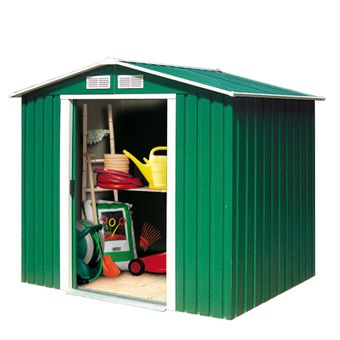 Tepro Metall-Gerätehaus / Gartenhaus Riverton 6 x 4 grün – Bild $_i