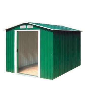 Tepro Gartenhaus / Metall-Gerätehaus Riverton 6 x 8 grün – Bild $_i
