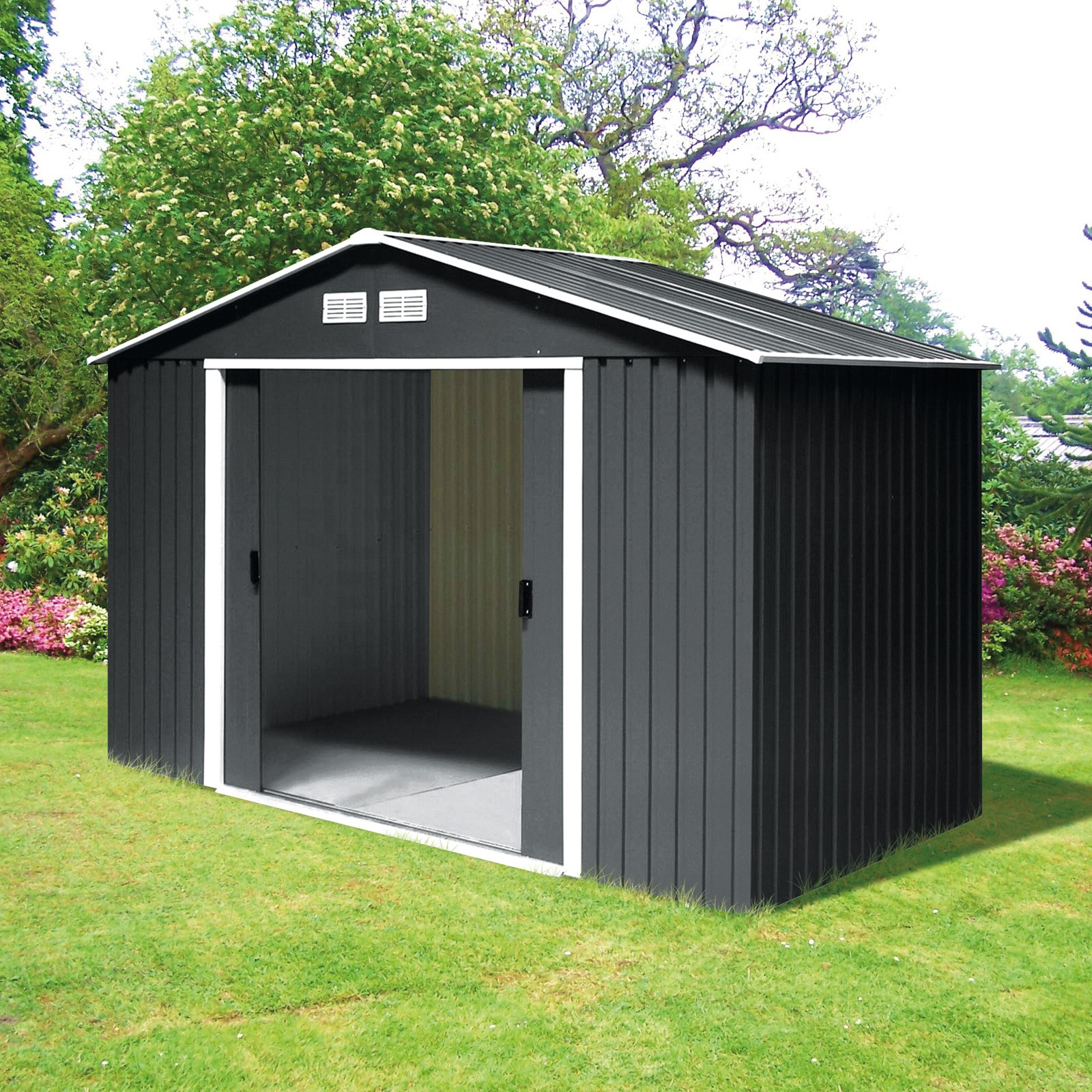 tepro gartenhaus metall ger tehaus titan 8 x 6 anthrazit. Black Bedroom Furniture Sets. Home Design Ideas