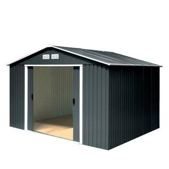 Tepro Metall-Gerätehaus / Gartenhaus Colossus 10 x 10 anthrazit – Bild $_i