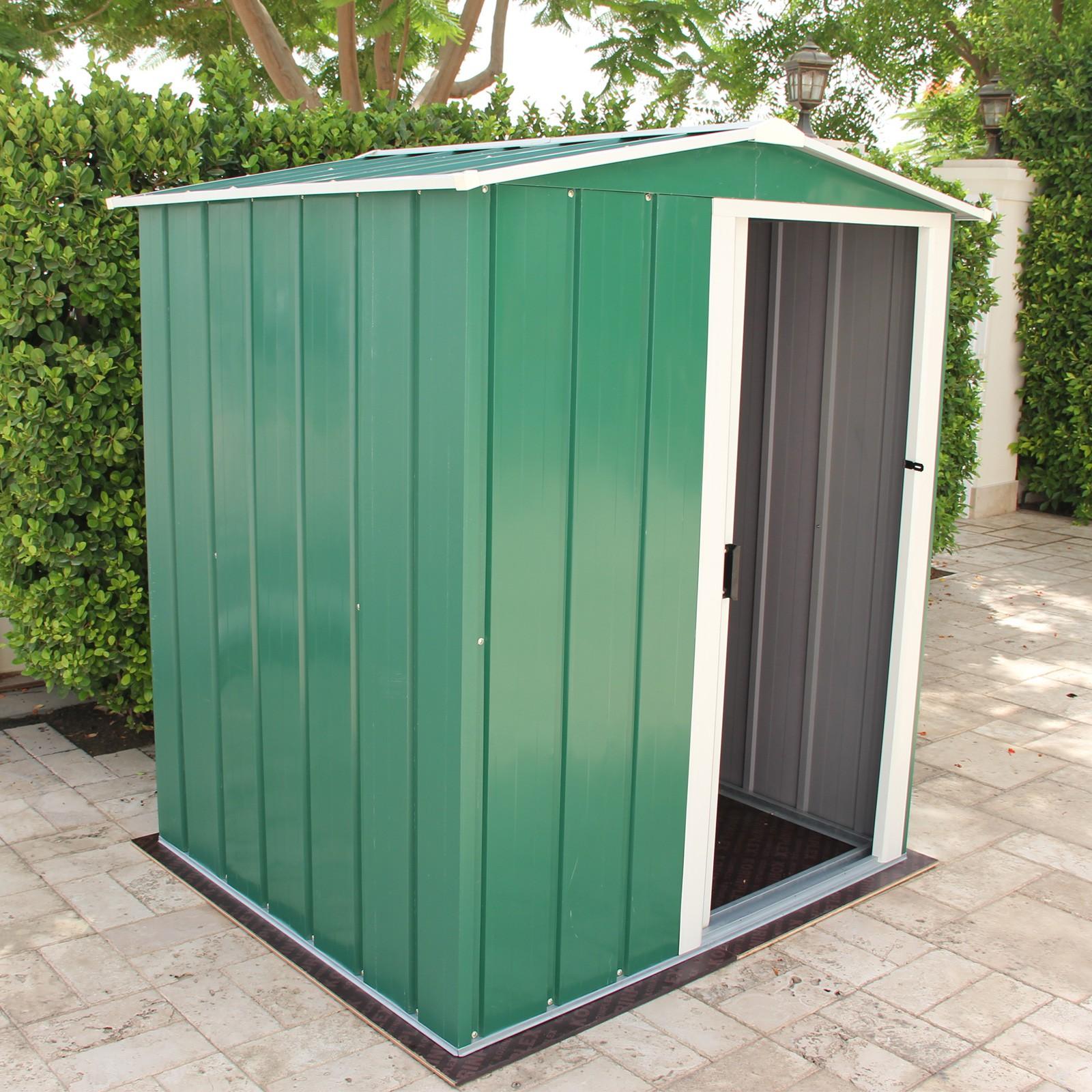 tepro metall ger tehaus gartenhaus eco 5x4 gr n. Black Bedroom Furniture Sets. Home Design Ideas