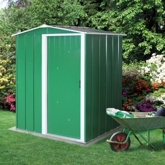 Tepro Metall-Gerätehaus / Gartenhaus Eco 5x4 grün – Bild $_i