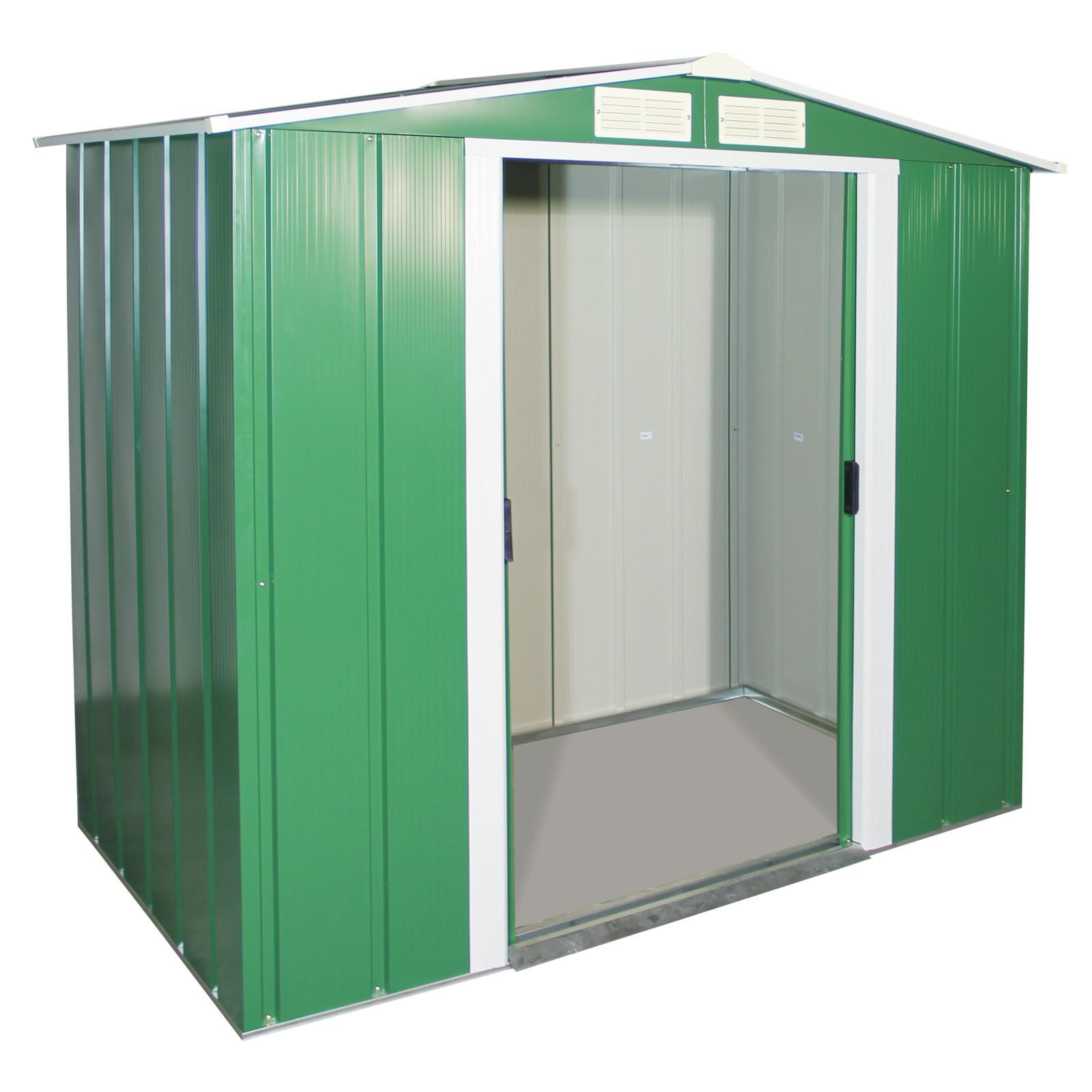 Tepro Metall Geräteschuppen / Gartenhaus Eco 6x4 grün 7229