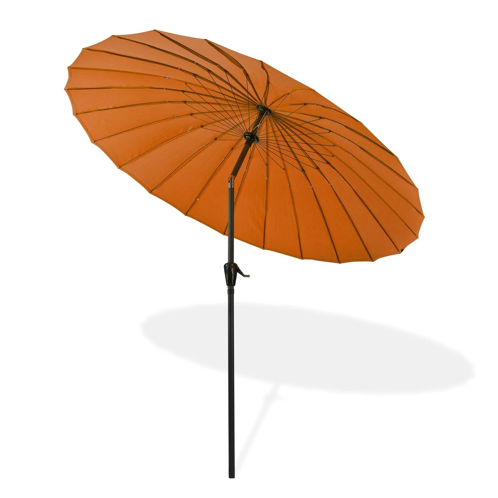 Dema Sonnenschirm Gartenschirm Sonnenschutz Schirm Kurbelschirm Tokio 2,5m terracotta 41280