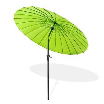 Sonnenschirm / Gartenschirm Tokio rund Ø 2,5 m grün – Bild $_i
