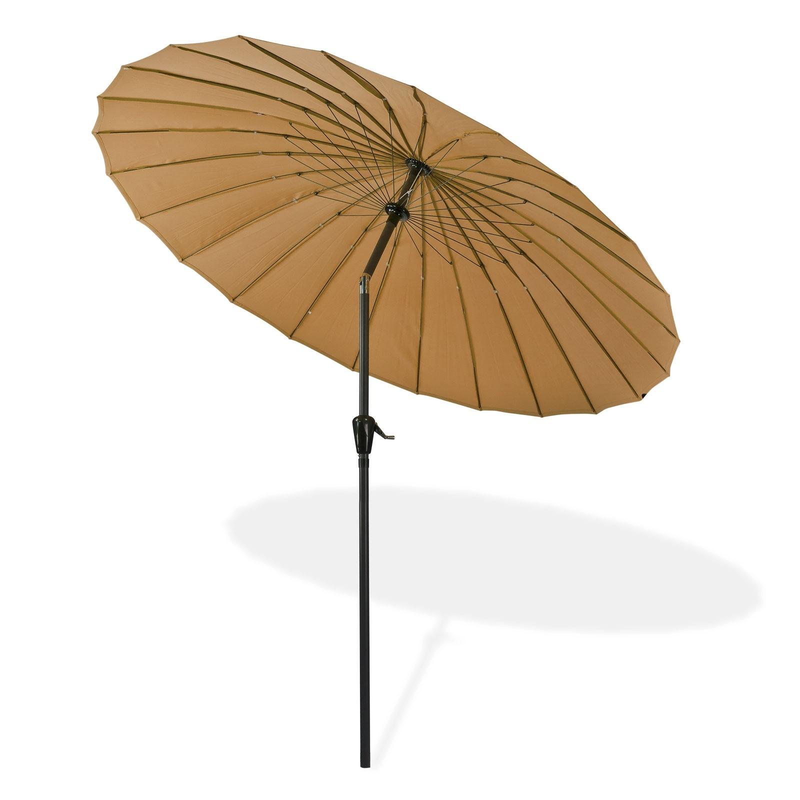 Dema Sonnenschirm Gartenschirm Sonnenschutz Schirm mit Kurbel Tokio rund Ø 2,5m braun 41278