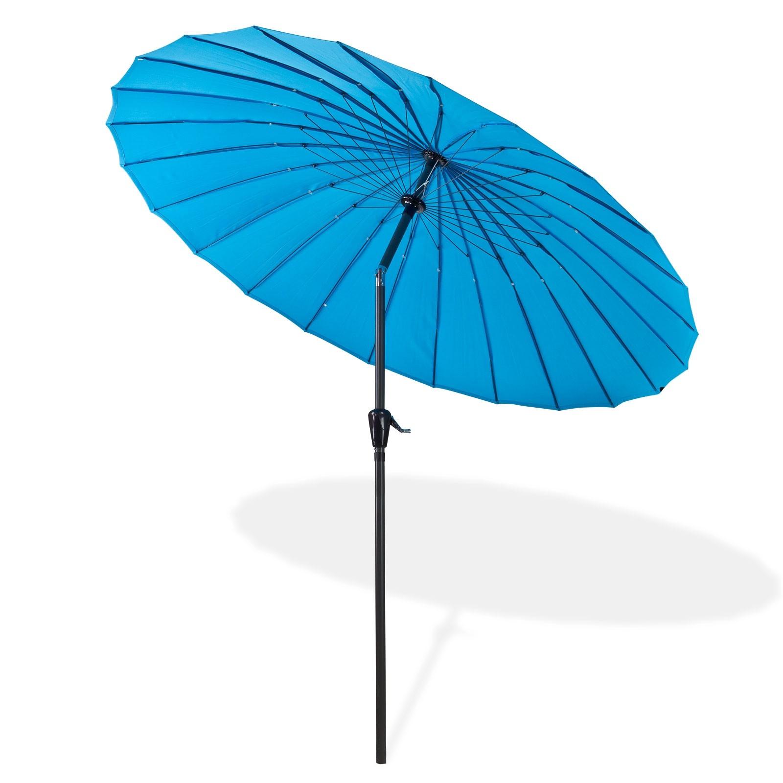 Dema Sonnenschirm / Gartenschirm Tokio rund 2,5 m blau 41279