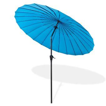 Sonnenschirm / Gartenschirm Tokio rund Ø 2,5 m blau – Bild $_i