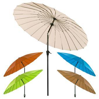 Sonnenschirm Gartenschirm Sonnenschutz Schirm Kurbelschirm Ø 2,5 m