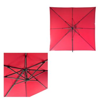 Ampelschirm / Sonnenschirm Verona 3 x 3 m rot – Bild $_i