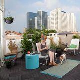 Keter Beistelltisch Gartenhocker mit Kühlbox Gartenkühlbox - Cool Stool türkis