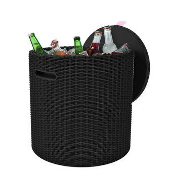 Keter Gartenhocker mit Kühlbox Cool Stool anthrazit – Bild $_i