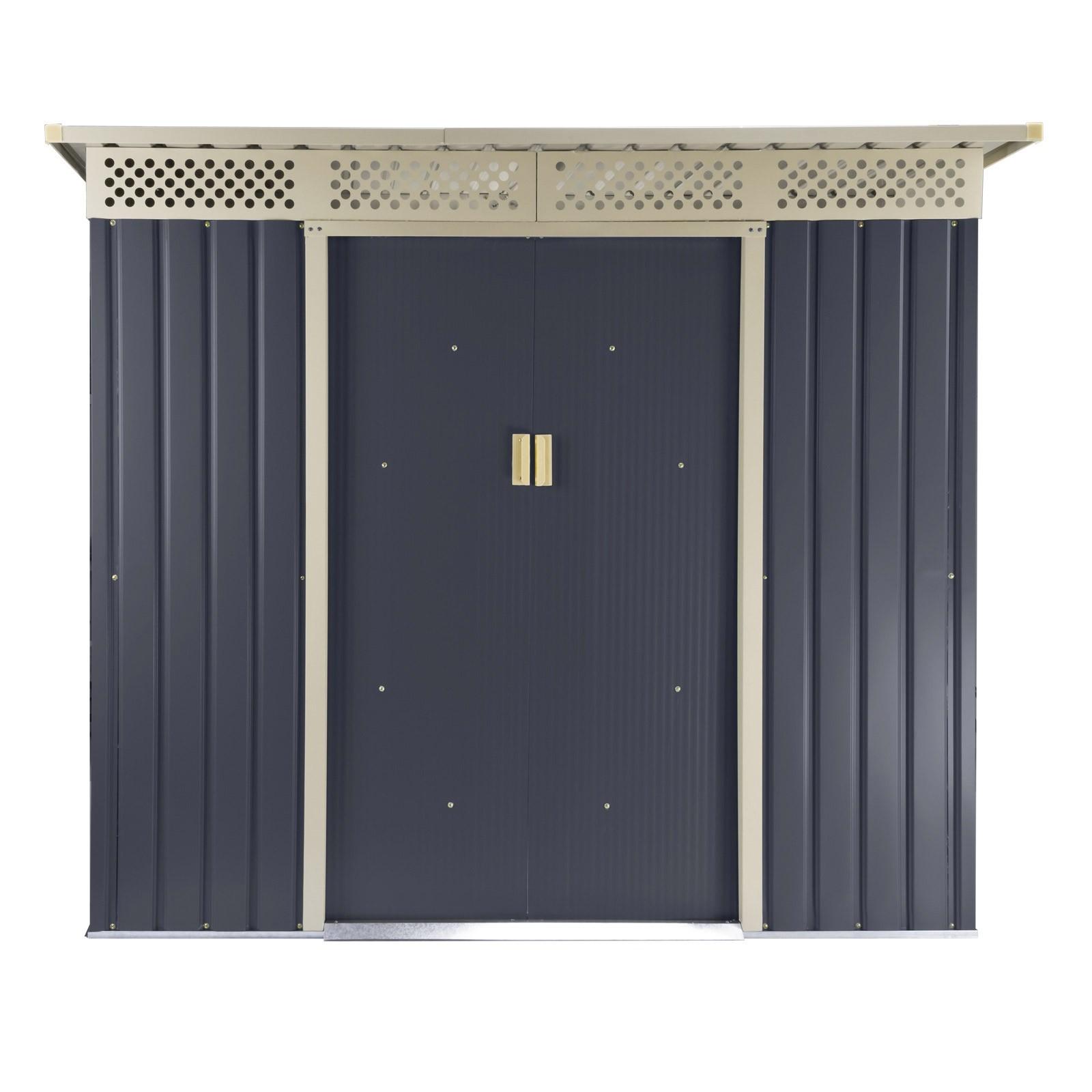 ger tehaus gartenhaus bristol metall 2 4 qm anthrazit. Black Bedroom Furniture Sets. Home Design Ideas
