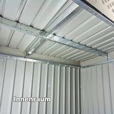 Gerätehaus / Gartenhaus Bristol Metall 2,4 qm Anthrazit