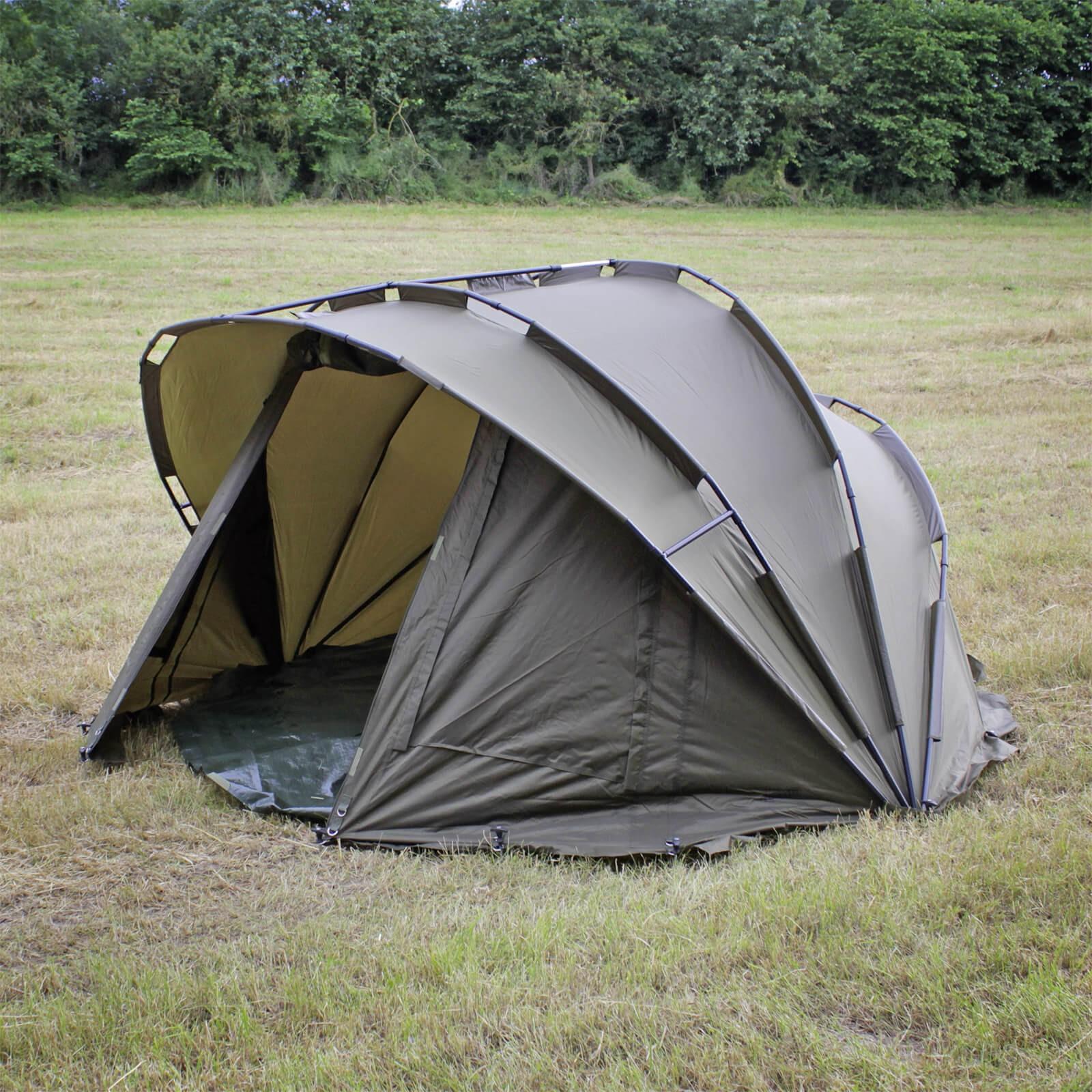FIXKRAFT Karpfenzelt Angelzelt 2 Mann Bivvy Karpfen Angel Zelt Anglerzelt Campingzelt 780000