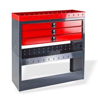 Fahrzeugeinrichtung / Fahrzeugregal / Kfz-Einbauregal - 3 Schubladen - – Bild $_i