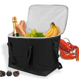 Kühltasche Schwarz 32 Liter Kühlbox Eisbox für Camping Picknick tragbar