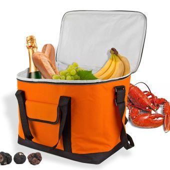 Kühltasche Orange 32 Liter Kühlbox Eisbox für Camping Picknick tragbar