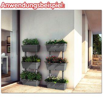 Senkrechtgarten / Blumenkasten 3tlg. cremeweiß – Bild $_i
