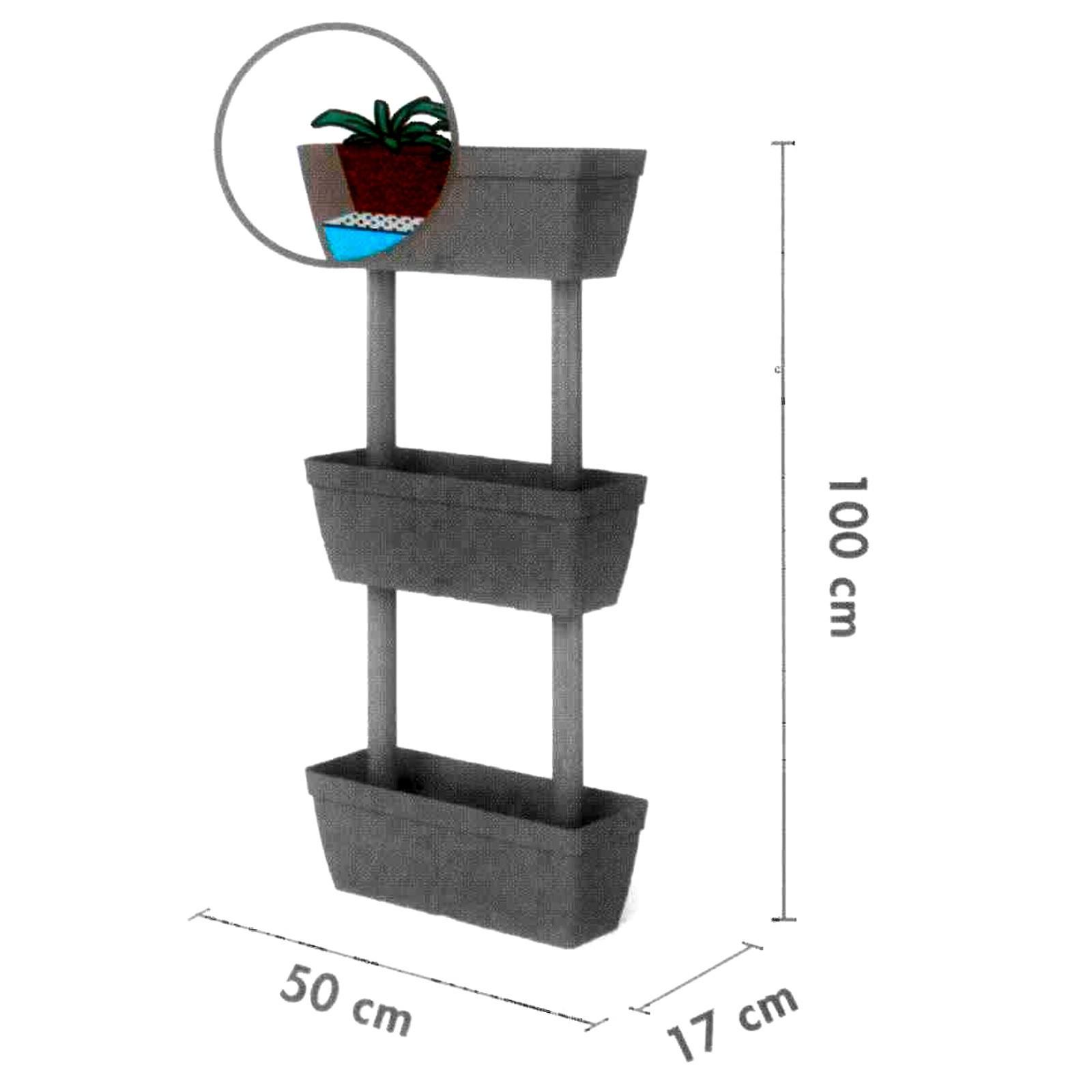senkrechtgarten blumenkasten 3tlg blumentopf pflanzk bel. Black Bedroom Furniture Sets. Home Design Ideas