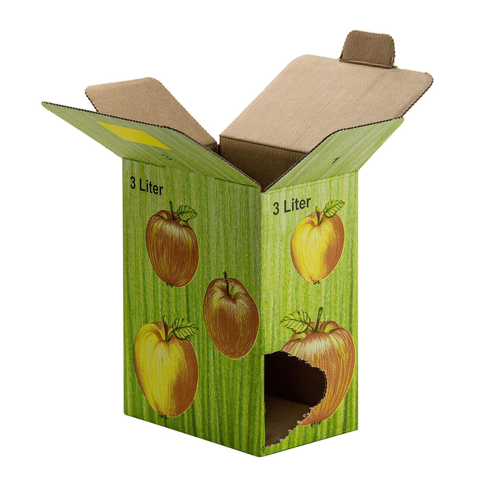 10 Stück 3 Liter Bag in Box Karton in Apfeldekor 1,30€//1Stk