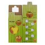 Bag in Box Saft-Karton / Faltkarton mit Apfeldekor 10 Liter