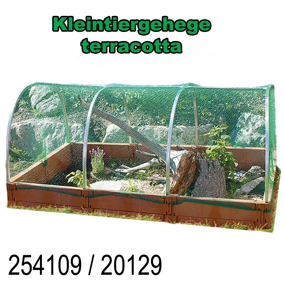 Juwel Kleintiergehege Kleintierauslauf Schildkröten 2m² terracotta/Basalt 20129