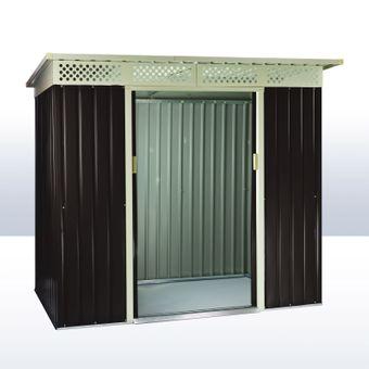 Gerätehaus / Gartenhaus Dublin Metall 4,8 qm Anthrazit – Bild $_i