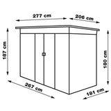 Gerätehaus / Gartenhaus Dublin Metall 4,8 qm Anthrazit