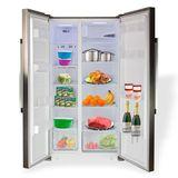 Kühl Gefrierkombination / Kühlschrank mit Gefrierfach SIDE BY SIDE A++