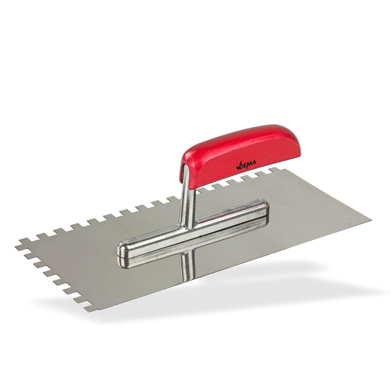 Zahnkelle Große Kelle Zahnspachtel Edelstahl zahnung 130 x 270 380 480mm PROFI