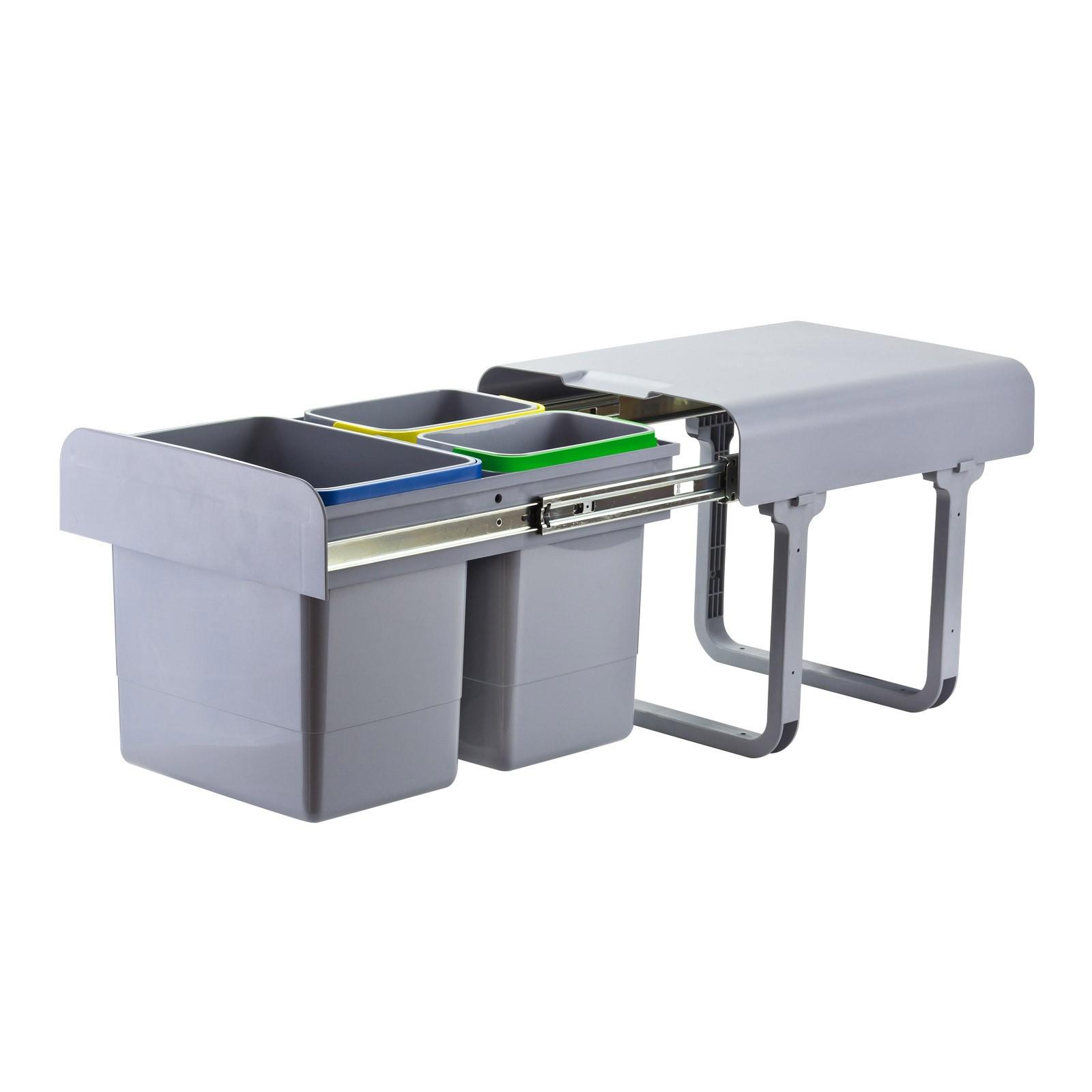 Dema Abfallsammler Mülleimer Müllsammler 1x15 L + 2x7 L Abfalleimer Abfallbehälter 13001