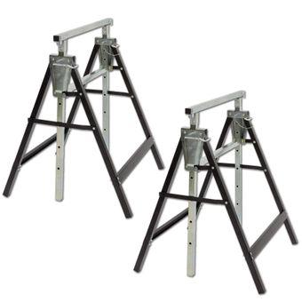 2 Stück Metall Klappbock Unterstellbock Gerüstbock Stützbock höhenverstellbar – Bild $_i