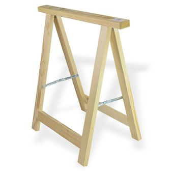 2x Holz Klappbock / Unterstellbock Profi 75x75 Traglast 100 kg – Bild $_i