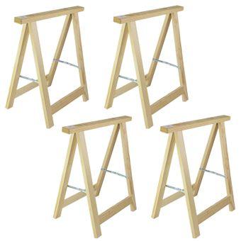 4x Holz Klappbock / Unterstellbock Profi 75x75 Traglast 100 kg – Bild $_i