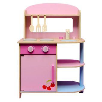 Van Manen Kinderküche / Spielküche aus Holz mit 3 Küchenhelfer
