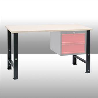 Modul Werkbank Stahl Fuß variabel 80-110 cm – Bild $_i