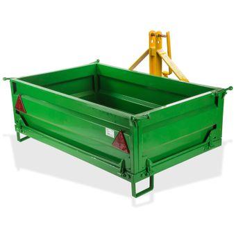 Traktor Heckcontainer mechanisch mit abnehmbarer Bordwand 500 kg – Bild $_i