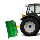 Traktor Heckcontainer mechanisch mit abnehmbarer Bordwand 500 kg