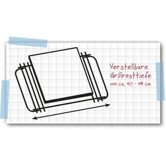 Tepro Hauptrost / Grillrost rechteckig 28 x 39 cm – Bild $_i