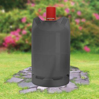 Tepro Schutzhülle Abdeckplane für 5 kg Gasflaschen Abdeckhaube schwarz 24x45cm – Bild $_i