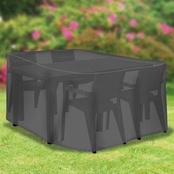 Tepro Schutzhaube / Schutzhülle Sitzgruppe rechteckig klein – Bild $_i
